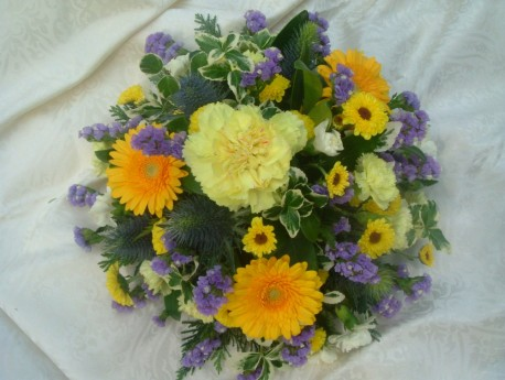 Yellow and Blue Posy