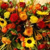 Autumn Mixed Flower Coffin Spray S005