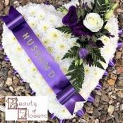 Purple Based Heart S088