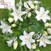 Rose and Lily Wreath S107