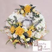 Yellow Based Wreath S042