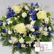 Blue and White Wreath