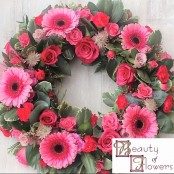 Cerise Wreath