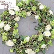 White Garden Wreath