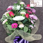 Pink Cerise and Purple Cut Flower Sheaf