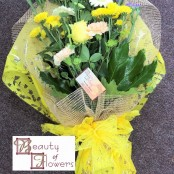 Yellow and Blue Cut Flower Sheaf