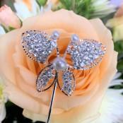 Diamante Butterfly Pick